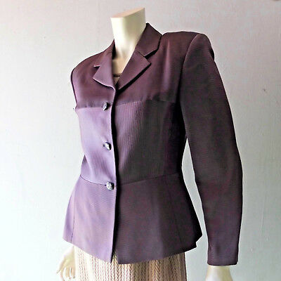 Holiday Jacket Byblos Italy sz 10 Satin Ottoman Tailored Blazer Cocktail Glam