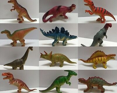 12 Assorted Plastic Dinosaurs Animals Model Figurine w Sounds Kids Education Toy