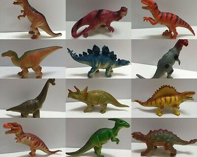 4 Assorted Plastic Dinosaurs Animals Model Figurine w Sounds Kids Education Toy