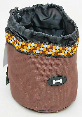 Luxury Pet Dog/puppy Treat Bag Pouch Walk/obedience Training Reward Brown