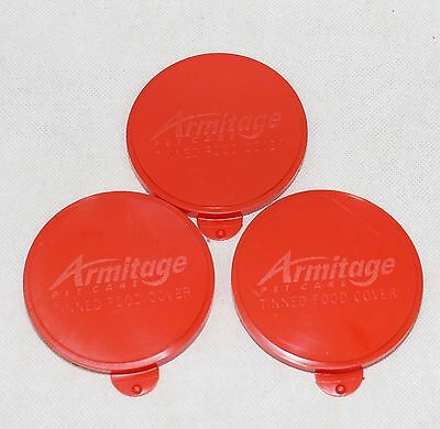 Pet Dog Food Tin Lids Cat Dog Food Can Lid  Pack 7.5cm Standard 400g Tin Can Red