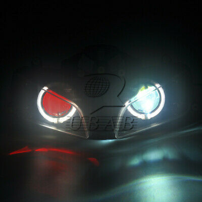 Halo Eye HID Projector Red Demon Headlight Assembly for Honda CBR600RR 2003-2006