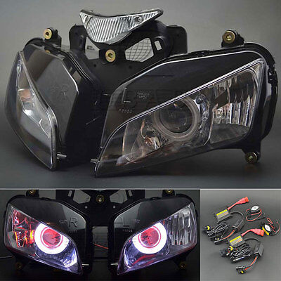 New Demon Angel Eye Headlight Assembly Projector Lamp for Honda CBR 1000 04-07