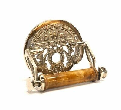 Traditional GWR Vintage Design Victorian Toilet Roll Holder Solid Brass Nickel