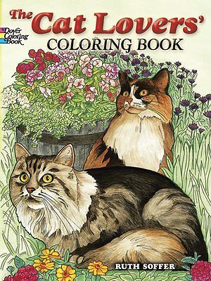 The Cat Lovers Coloring Books for Adults Dover Nature Animals Kitten Kitty Pages