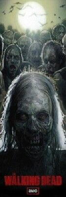 AMC FILMS THE WALKING DEAD ZOMBIE POSTER NEW 21x62 FREE SHIPPING