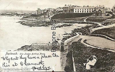 The Ladies Bathing Place Portrush Co Antrim Postcard Northern Ireland
