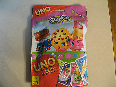 Shopkins Uno Foil Bag Card Game by Cardinal - NEW