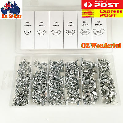New 150 PC Wing Nut Assortment Professional Industry Tool SDY-19019 Express post