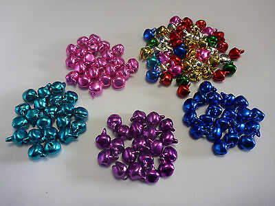 20 or 50 Tiny Pastel  Metal Jingle Bells Christmas Easter Crafts Scrap Booking