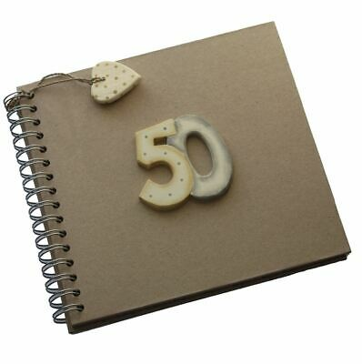 East Of India 50th Birthday Keepsake Book Fifty Brown Kraft Photo Memory