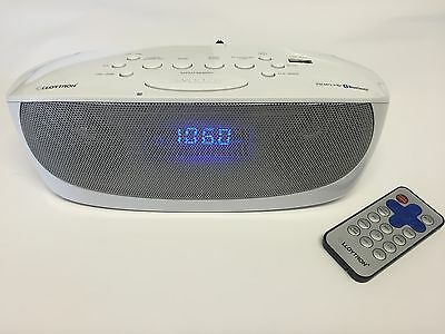 Portable Digital FM Radio Alarm Clock Wireless Bluetooth Speaker AUX - USB - MP3