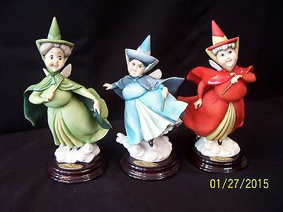 Armani Figurine Set: Flora, Fauna & Merriweather from Sleeping Beauty (MIBs)
