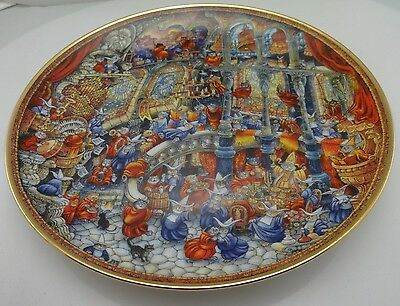"""""""Holy Cats"""" Cat Plate by Bill Bell Franklin Mint Fine Porcelain Limited Edition"""