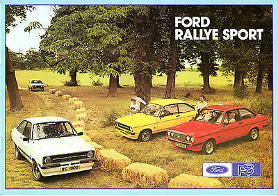 Ford Escort RS Mk2 1976-77 UK Market Sales Brochure Mexico RS1800 RS2000