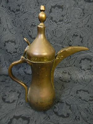 "Antique Islamic Arabian Copper & Brass 13"" دلة Dallah Bedouin Coffee Pot"