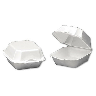 Genpak Large Takeout Foam Clamshell Sandwich Containers - GNP22500
