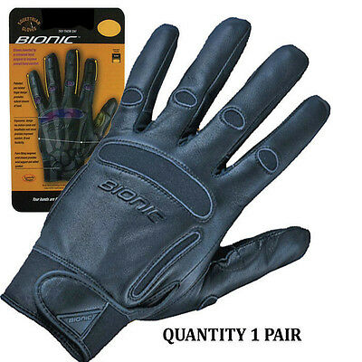 1 Pair Bionic Womens Equestrian Riding Gloves. Full Leather Construction.