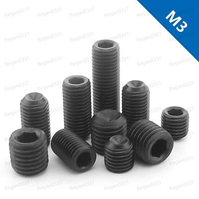 M3 Black 12.9 Grade Alloy Steel Hex Socket Set Screw with  Cup Point Grub Screws