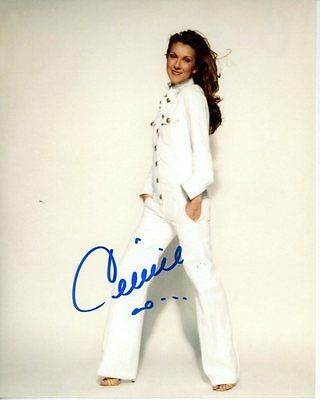 CELINE DION Signed Autographed Photo