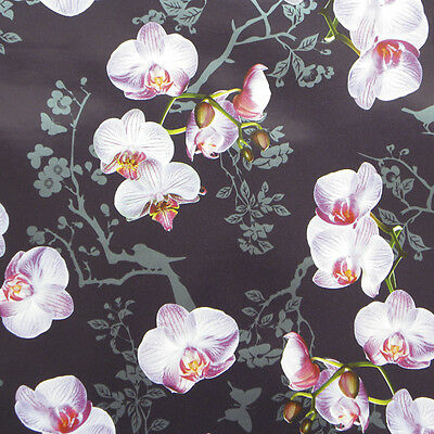 Orchids Purple ,Wrapping paper,counter roll, gift wrap,500mm x 50m
