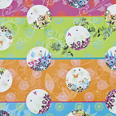 Oriental Flower Earth Wrapping paper,counter roll, gift wrap,500mm x 50m