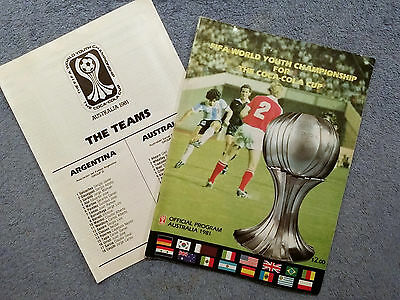 1981 - Official Fifa World Youth Championships Programme + Teamsheet