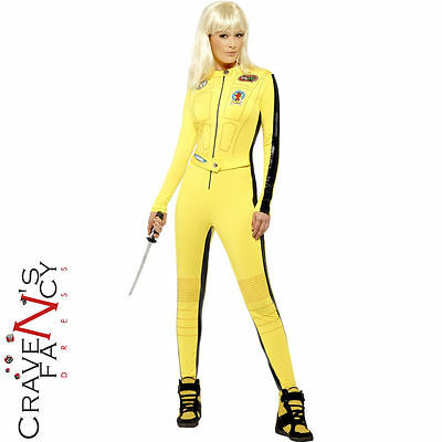 Kill Bill Costume Adult Uma Thurman Fancy Dress Ladies Bodysuit The Bride New