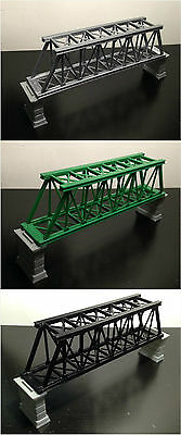 Outland Models Train Railroad Truss Bridge (for Single Track) with Piers Z Gauge