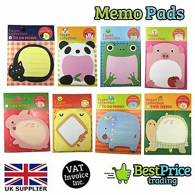 BULK Small Animal Novelty Memo Pads Sticky Notes *Business IT *Party *Free Post