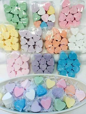 10 x Mini Heart Bath Bombs Fizzers - Weddings/Party/Birthday/Baby Showers