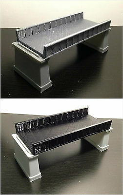 Outland Models Railroad Girder Bridge (for Double Track) with Piers Z Gauge
