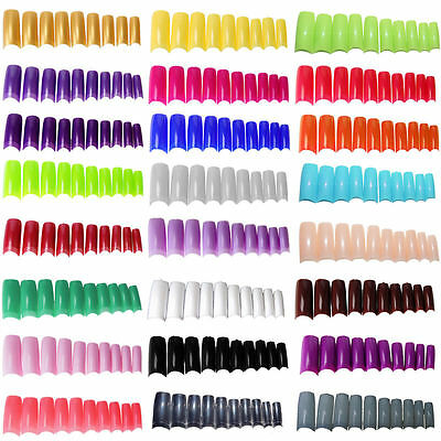 False Nails Fake French Full Nail Art Tips Glitter Zebra Acrylic UK SALE
