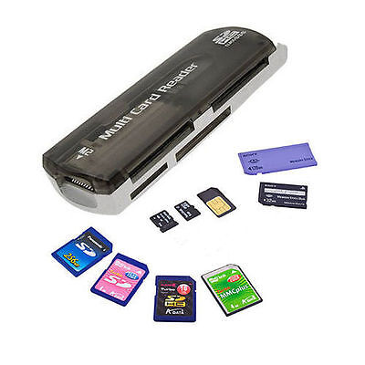 43 All in One Multi USB Memory Card Reader Adapter SD SDHC TF M2 MMC MS PRO UK