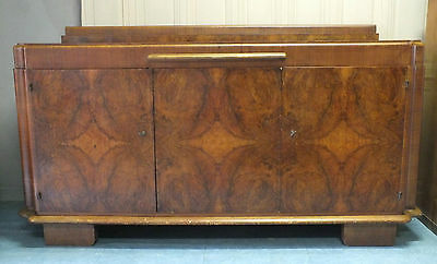 Grand & Ancien Buffet - Desserte Art Deco En Bois *
