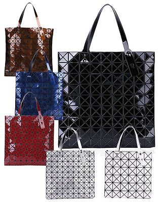 New Womens Large Everyday Faux Patent Leather Shoulder Bag Tote Gn1535