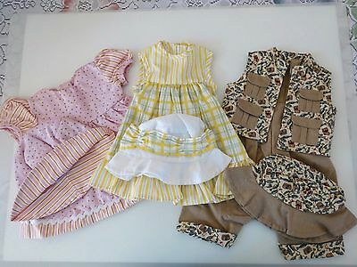 """NEW-DOLL CLOTHES-Dresses & Fishing Outfits fit 18""""Doll such as AG Doll-Lot #197"""