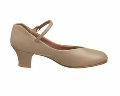 Capezio 551 Women's Size 6.5 Medium Tan Leather Jr. Footlight Character Shoe