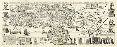 HJB-AntiqueMaps : Map of the Holy Land with Jerusalem