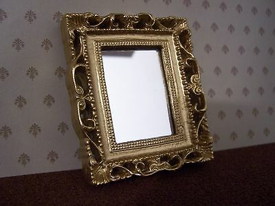 Dolls House Miniatures 1/12th Scale Gold Effect Framed Mirror D487 New *