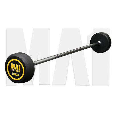 MA1 Fixed Rubber Barbell