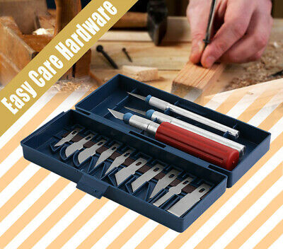 13PCS Utility Precision Knife Set Tools Paper Carving High-Carbon Steel Blades