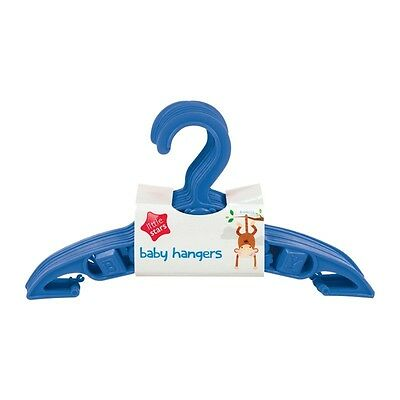 PACK OF 5 Baby Boy BLUE Clothes Coat Hangers Space Savers Nursery Wardrobe NEW
