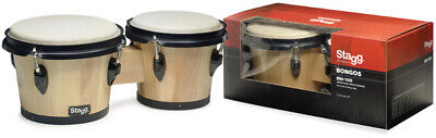 Stagg BW-100-N Wood Bongo 7.5in+6.5in Natural