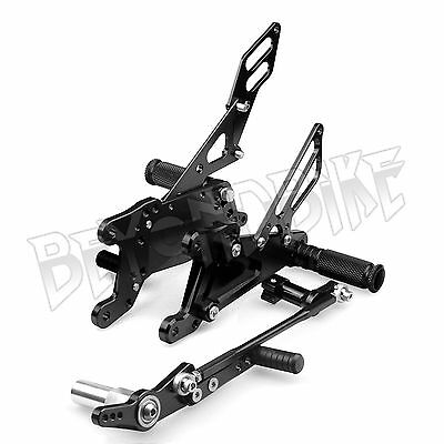 Yamaha YZF R1 07 08 Rear Sets Rearsets Footpegs Footrests Adjustable Foot Pegs