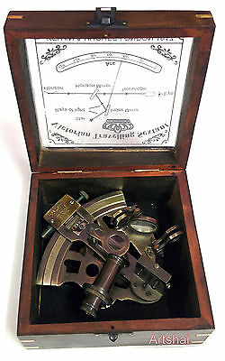Artshai 5 inch size Nautical Sextant with wooden box.Decor and Gifting
