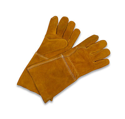 Garden Trading Gauntlet Gloves - Gold Suede