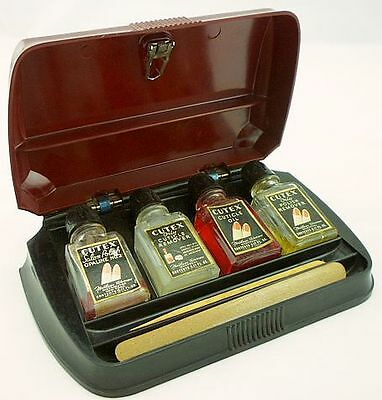 CUTEX Bakelite Boxed Manicure Set Vintage Art Deco