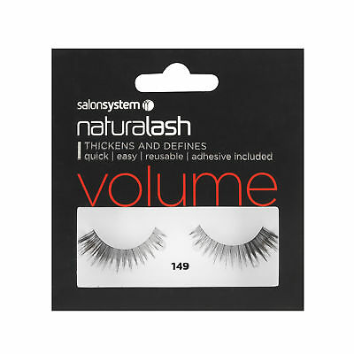 Salon System Naturalash 149 Black (volume) Adhesive Included False Strip Lashes