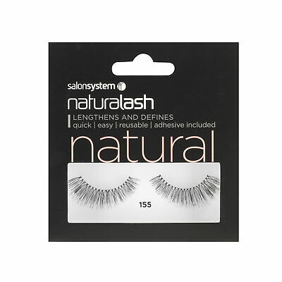 Salon System Naturalash 155 Black (natural) Adhesive Included False Strip Lashes